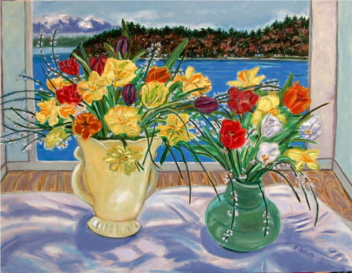 Artist: Pat Tolle, Title: Studio Bouquets  - click for larger image