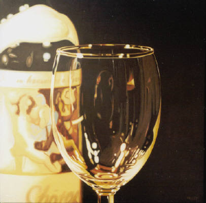 Artist: Ray Pelley, Title: 1973 Mouton with Glass - click for larger image