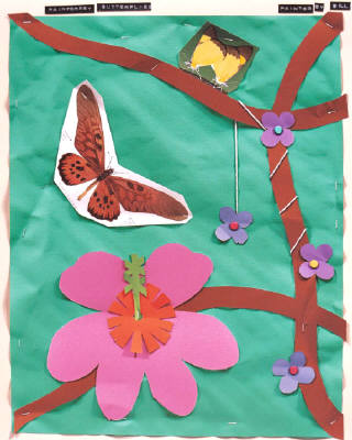 Artist: Bill Braun, Title: Rainforest Butterflies - click for larger image