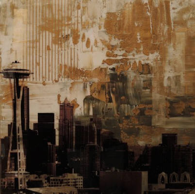 Artist: Brooke Westlund, Title: Seattle Gold Space Needle -To Be Ordered - click for larger image