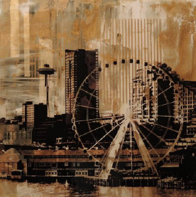 Artist: Brooke Westlund, Title: Seattle Gold  Great Wheel -To Be Ordered - click for larger image