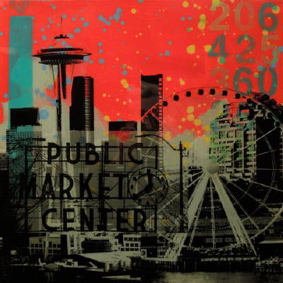 Artist: Brooke Westlund, Title: Seattle Icons - BW113combo-2020 - click for larger image