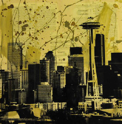 Artist: Brooke Westlund, Title: Seattle Series - Downtown 1 - click for larger image