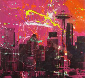 Artist: Brooke Westlund, Title: Seattle Skyline BW32-2020 - click for larger image