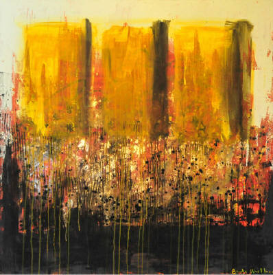 Artist: Brooke Westlund, Title: Yellow Panels - click for larger image