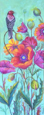 Artist: Debbie Tomassi, Title: Poppy and Finch - click for larger image