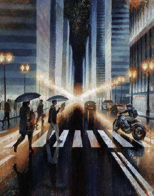 Artist: Dimitriy Gritsenko, Title: Night Rider No. 7 - click for larger image