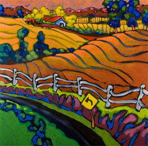 Artist: Don Tiller, Title: Fence Line - click for larger image