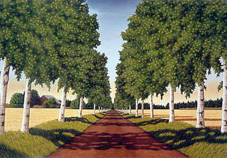 Artist: Doug Martindale, Title: Birch Drive - click for larger image