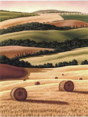 Artist: Doug Martindale, Title: Bales of Gold - click for larger image