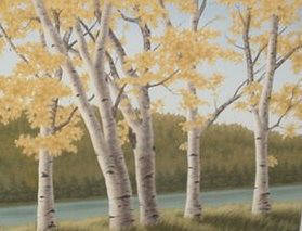 Artist: Doug Martindale, Title: Looking Through Aspens - click for larger image
