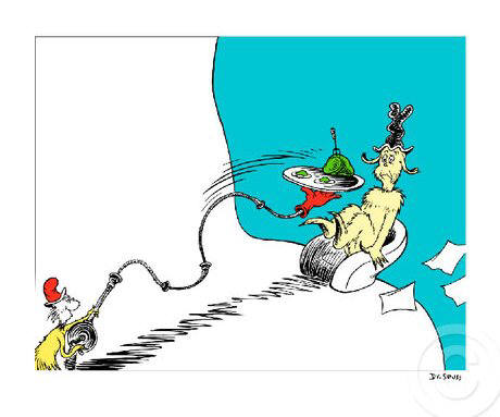 Artist: Dr. Seuss  , Title: Do you like Green Eggs and Ham? - click for larger image