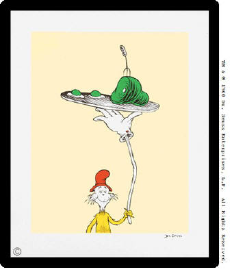 Artist: Dr. Seuss  , Title: Green Eggs and Ham - Inside Cover - Sold Out - click for larger image