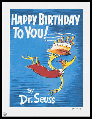Artist: Dr. Seuss  , Title: Happy Birthday To You! - Diptych and Single - click for larger image