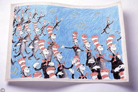 Artist: Dr. Seuss  , Title: Singing  Cats - click for larger image