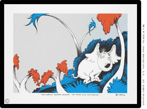 Artist: Dr. Seuss  , Title: The Speck-Voice Was Talking - click for larger image