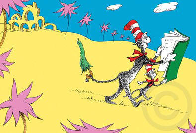 Artist: Dr. Seuss  , Title: There's so, so much to Read - click for larger image