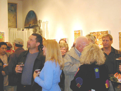 Artist: Gallery Event Photos, Title: A well attended Holiday Group Show - click for larger image