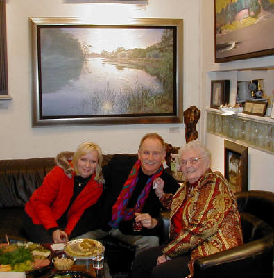 Artist: Gallery Event Photos, Title: Ann, Doug and Gunnar's Mom Jean - click for larger image