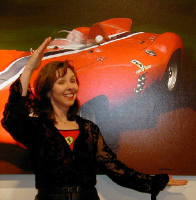 Artist: Gallery Event Photos, Title: Cool...A Ferrari Girl - click for larger image