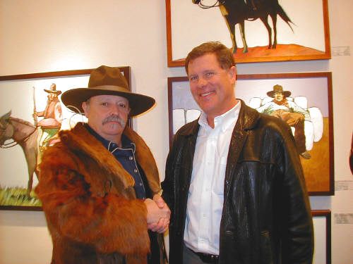 Artist: Gallery Event Photos, Title: Cowboy Meets Collector - click for larger image