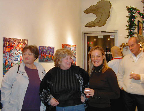 Artist: Gallery Event Photos, Title: Diane Culhane seems happy to be a part of our group show... - click for larger image