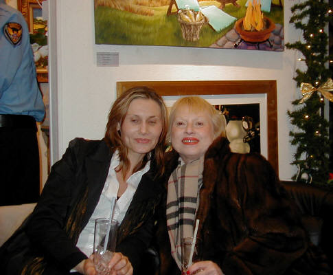Artist: Gallery Event Photos, Title: Elka and Shula enjoying the festivities - click for larger image