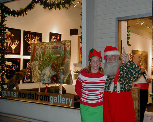Artist: Gallery Event Photos, Title: Gallery Elf and Santa  - click for larger image