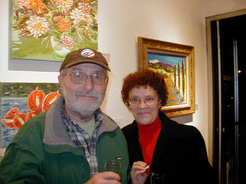 Artist: Gallery Event Photos, Title: Jim and Caroline Hitter enjoying our 20th - click for larger image