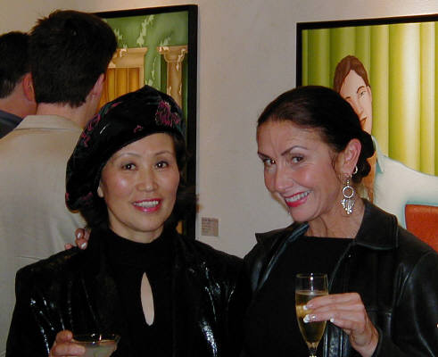 Artist: Gallery Event Photos, Title: Kamikaze Masami and Patty share a toast - click for larger image