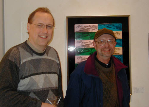 Artist: Gallery Event Photos, Title: Kenneth Wahlin  and Ray Pelley  at Fast/Pop - click for larger image