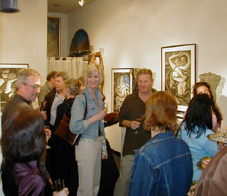 Artist: Gallery Event Photos, Title: Latremouille and Anderson Opening March 9 - click for larger image