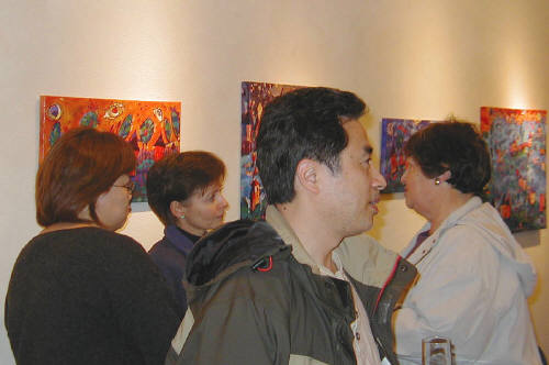 Artist: Gallery Event Photos, Title: Liang Wei during his opening - click for larger image