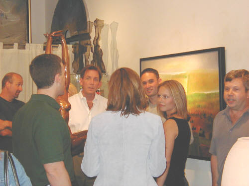 Artist: Gallery Event Photos, Title: Liang Wei's July Opening was a popular event - click for larger image