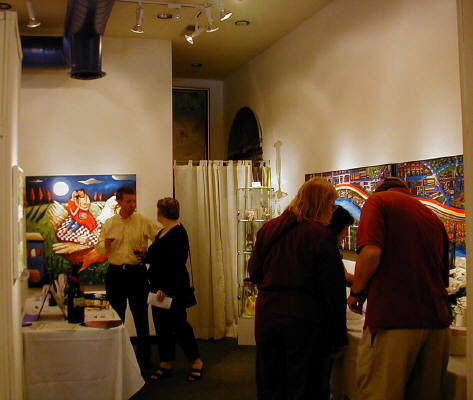 Artist: Gallery Event Photos, Title: May 31, 2003 Art + Wine - click for larger image