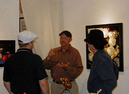 Artist: Gallery Event Photos, Title: Ray Pelley discussing his artwork - click for larger image