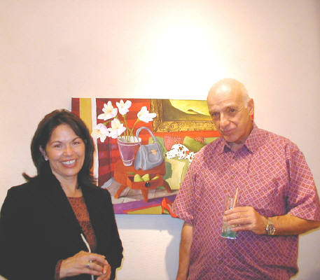 Artist: Gallery Event Photos, Title: Sept 2005-Collectors Susanne Turnipseed and John Brightbill  - click for larger image
