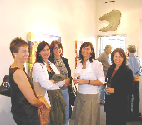 Artist: Gallery Event Photos, Title: Sept 2005-Seeing Double...Holly Martz with friends and twin sister - click for larger image
