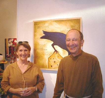 Artist: Gallery Event Photos, Title: Sept 2005-The Wherrys seem happy with their new painting - click for larger image