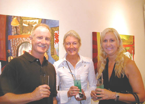 Artist: Gallery Event Photos, Title: Sept 2005- Gallery patrons, Doug, Micki and Nancy enjoying the Blues - click for larger image