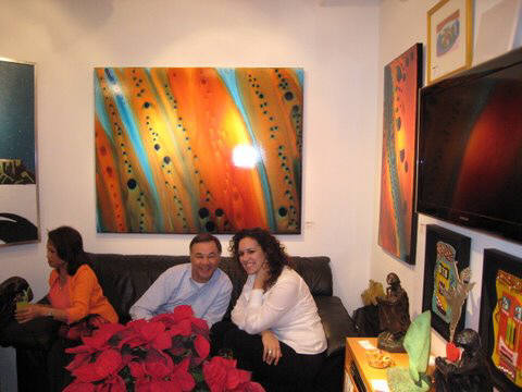 Artist: Gallery Event Photos, Title: That is a great Bob Ichter painting - click for larger image