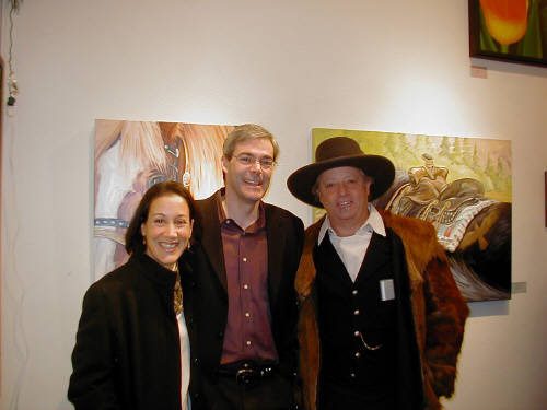 Artist: Gallery Event Photos, Title: Thom Ross joins long time friends Tom and Thalia at our 20th - click for larger image