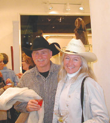 Artist: Gallery Event Photos, Title: You'd think they were a couple...very nice to have the cowboy participation - click for larger image