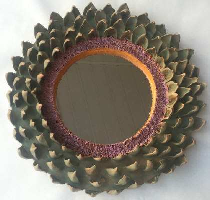Artist: Gina Holt, Title: Artichoke Mirror - click for larger image