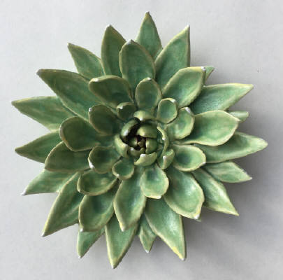 Artist: Gina Holt, Title: Succulent - Patina Green  - click for larger image