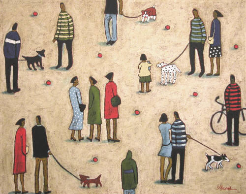 Artist: Jaime Ellsworth, Title: Walk the Dog - click for larger image