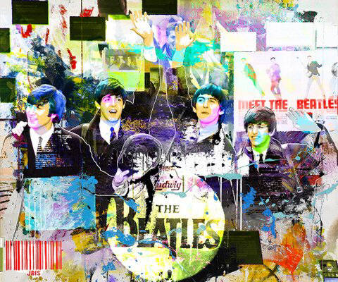 Artist: Jeffrey and Michael Bisaillon, Title: Meet the Beatles - click for larger image