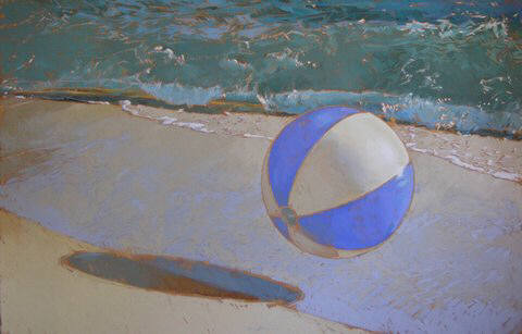 Artist: Kim Starr, Title: Periwinkle Beach Ball - click for larger image