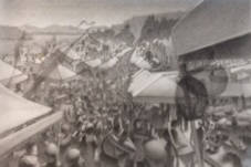 Artist: Mark Skullerud, Title: Coupville Festival - Graphite Study - click for larger image