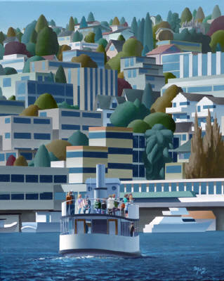 Artist: Mark Skullerud, Title: Lake Union II - click for larger image